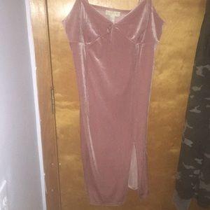 F21 Plus Pink Slit Knee Dress